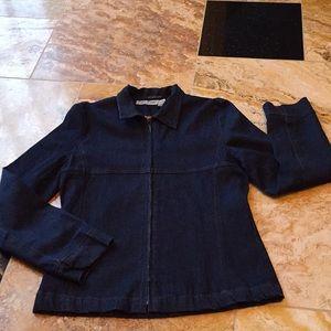 Erica Brooke Collection dark wash stretch denim